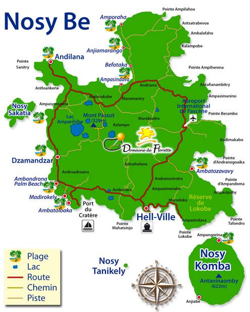 Le domaine de Florette se trouve au centre de Nosy Be